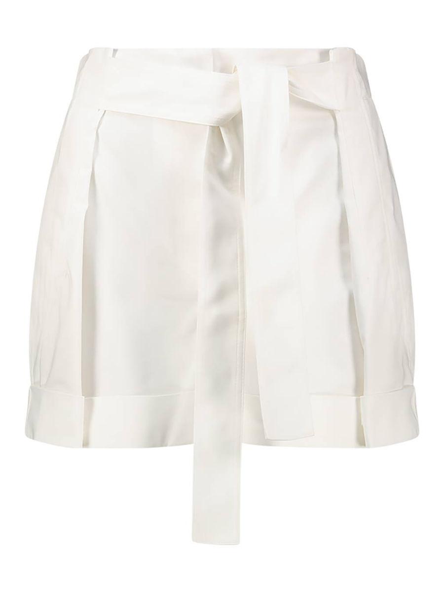 Plissierte Shorts mit Bindegürtel