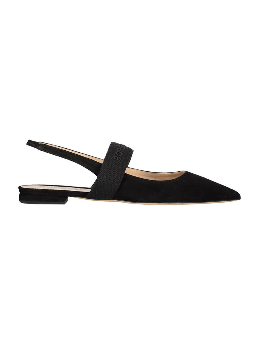 Slingback pointed toe ballerinas