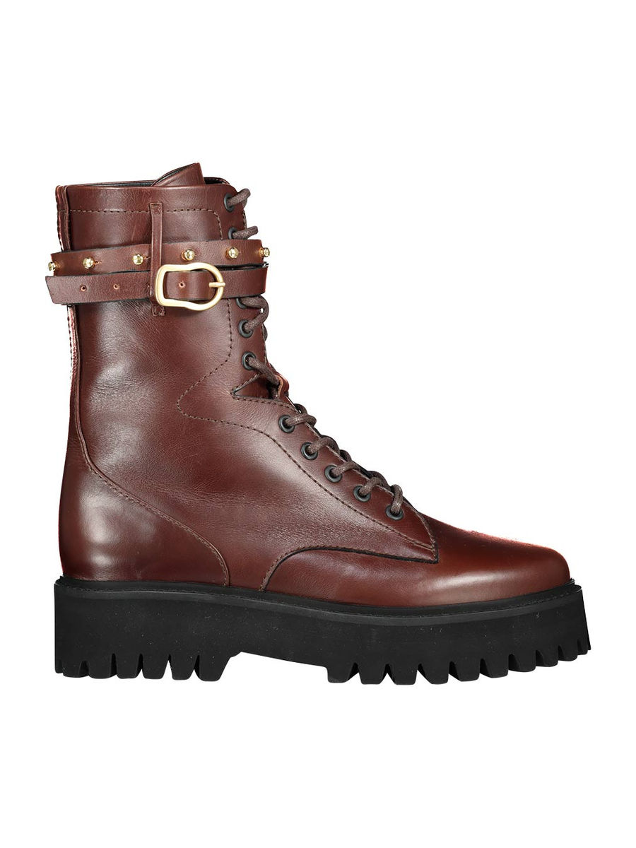 Strapped combat boots