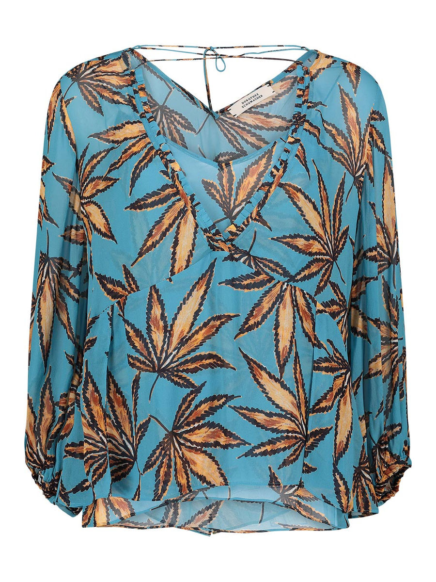 Layered tropical blouse