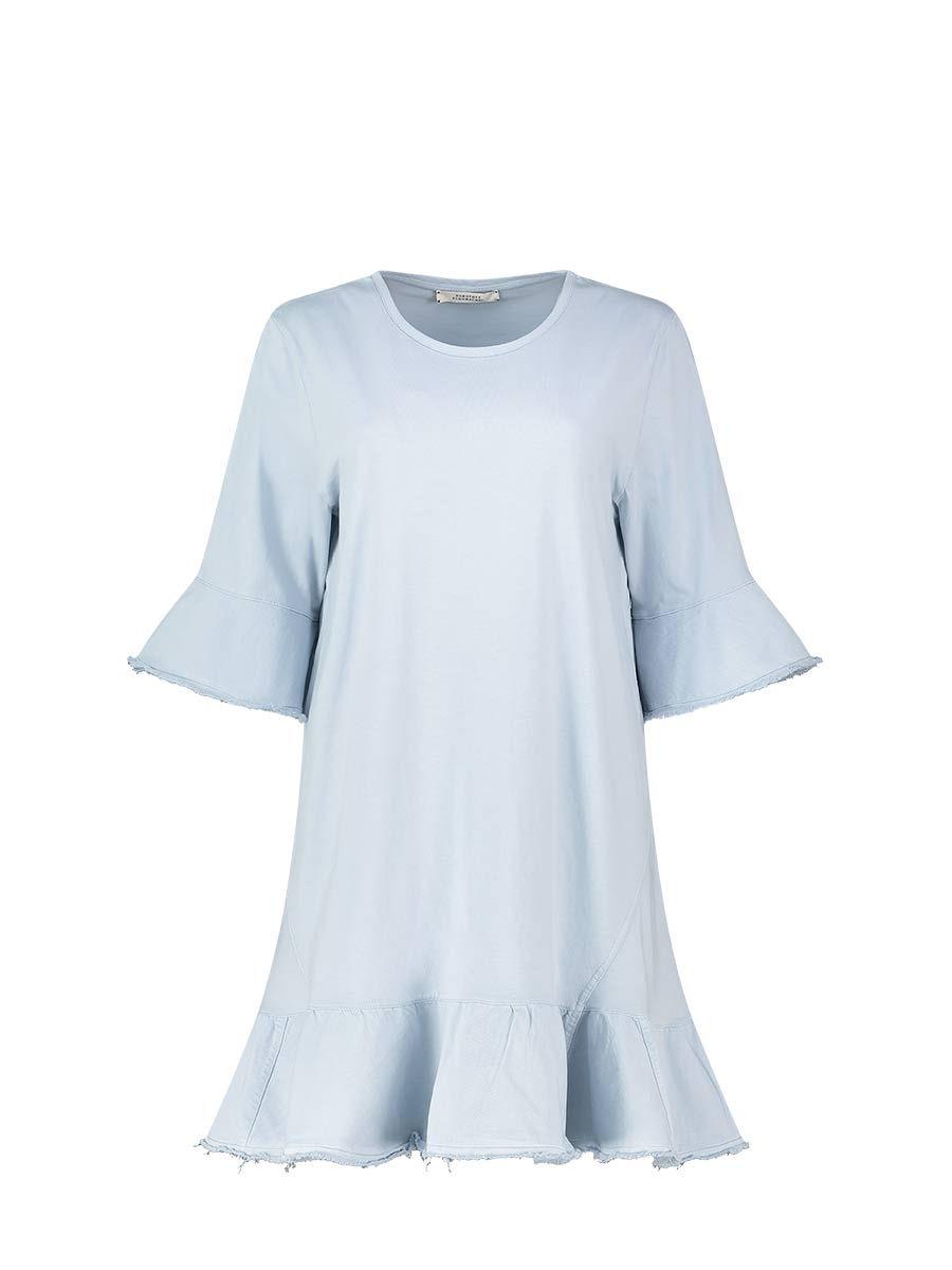 Ruffle-detail dress