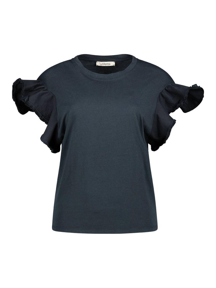 Frilled sleeve shirt