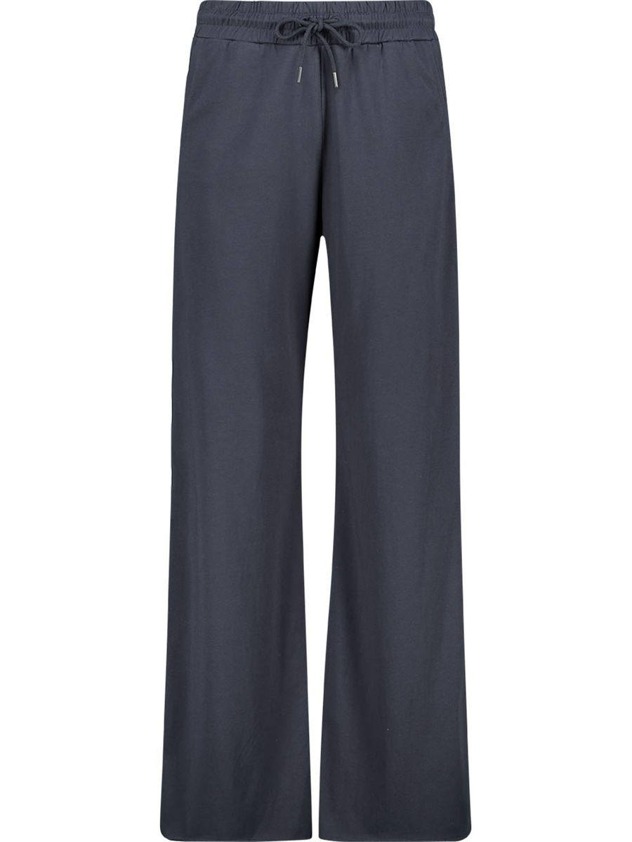 Cotton lightly flared trousers