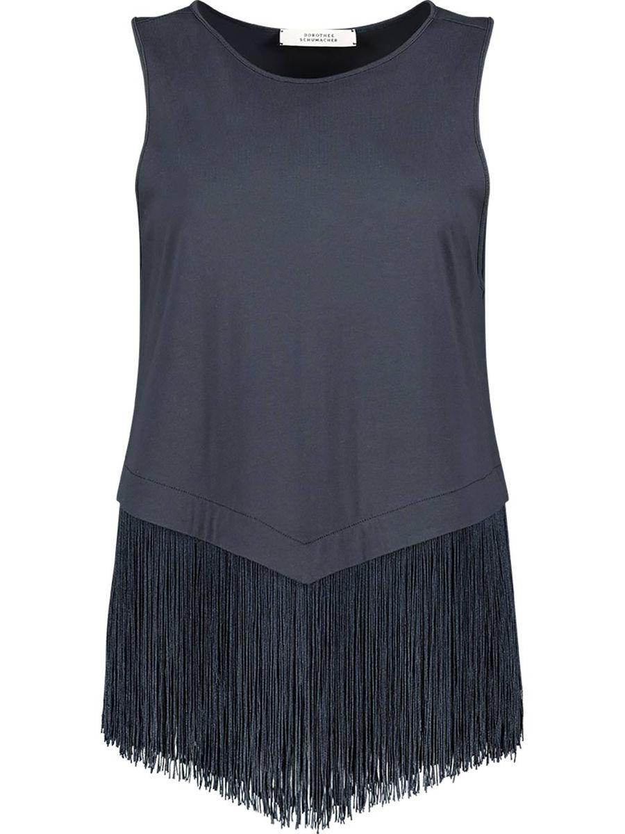 Fringe detailed sleeveless top