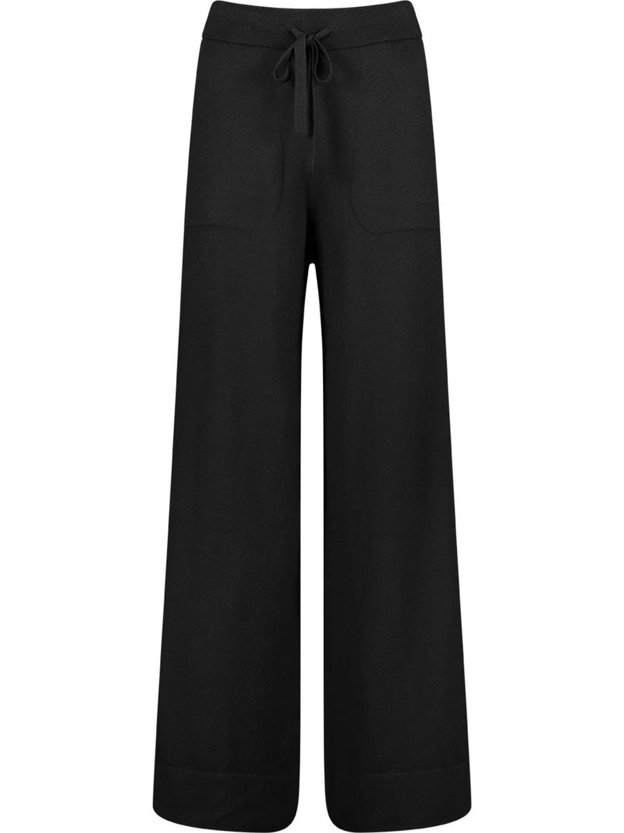 Wide-legged drawstring trousers