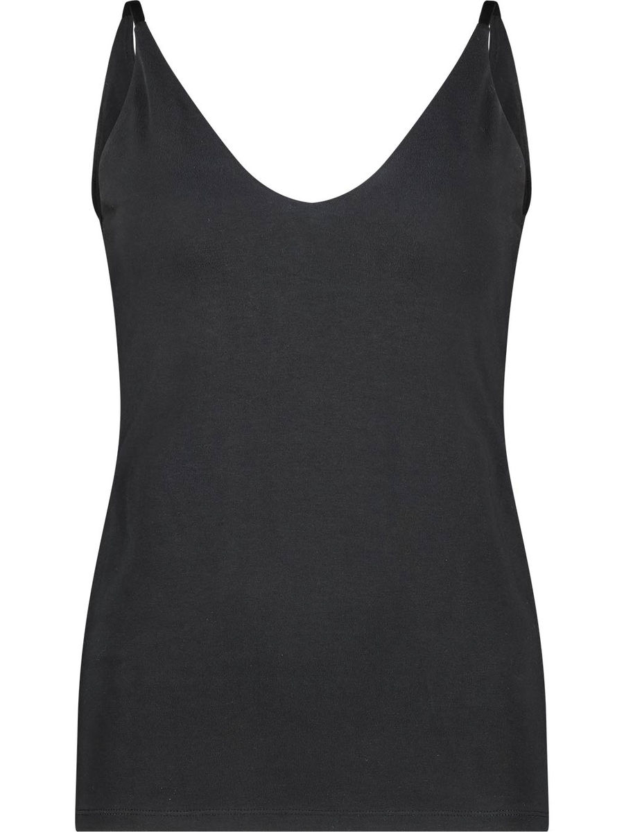 Cotton blend solid cami top
