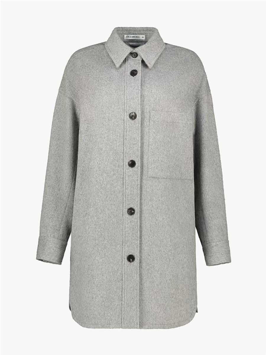 Terri felted wool shirt coat