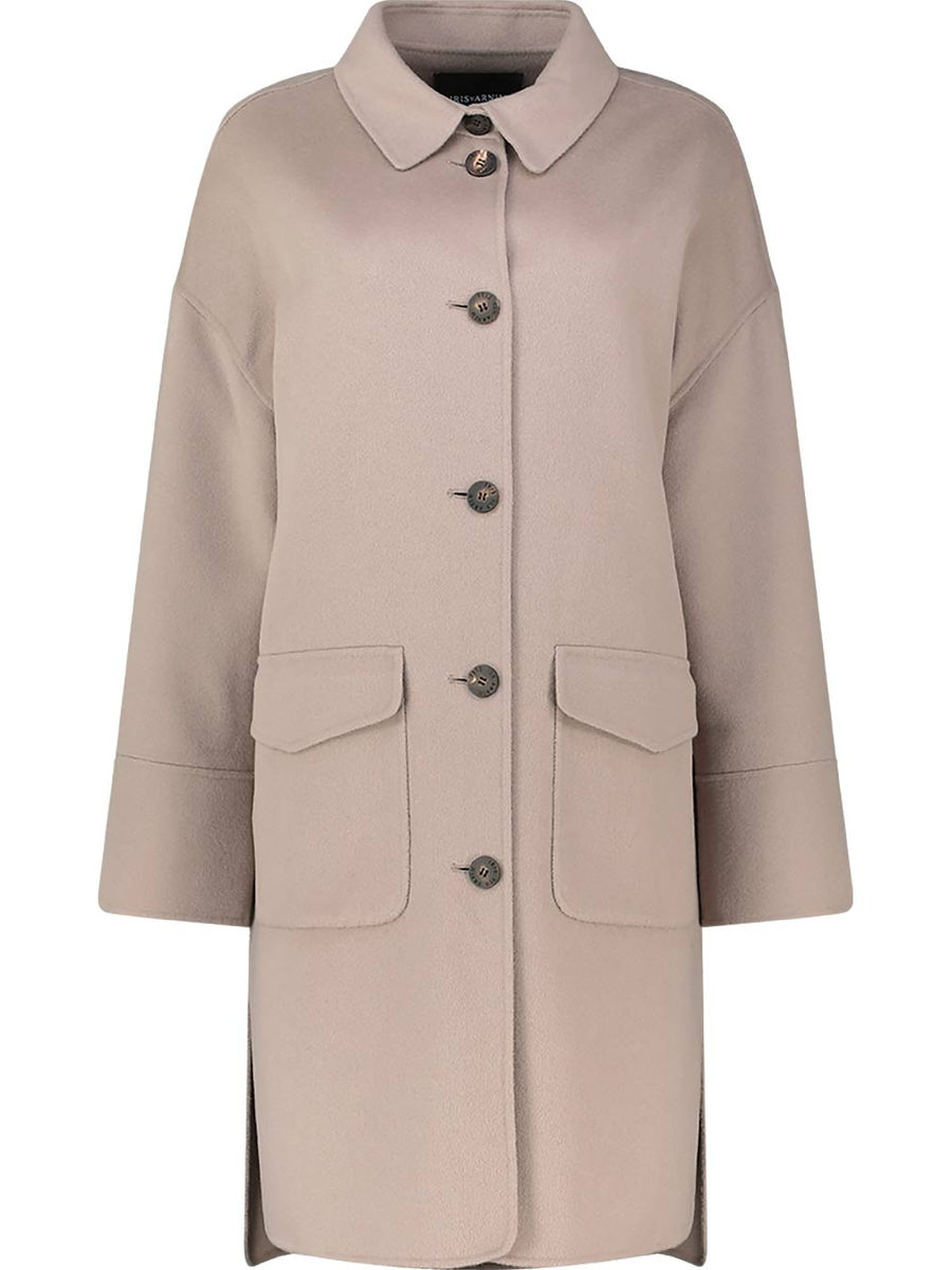 Doubleface Coat with Patched Pockets 'Hazel'