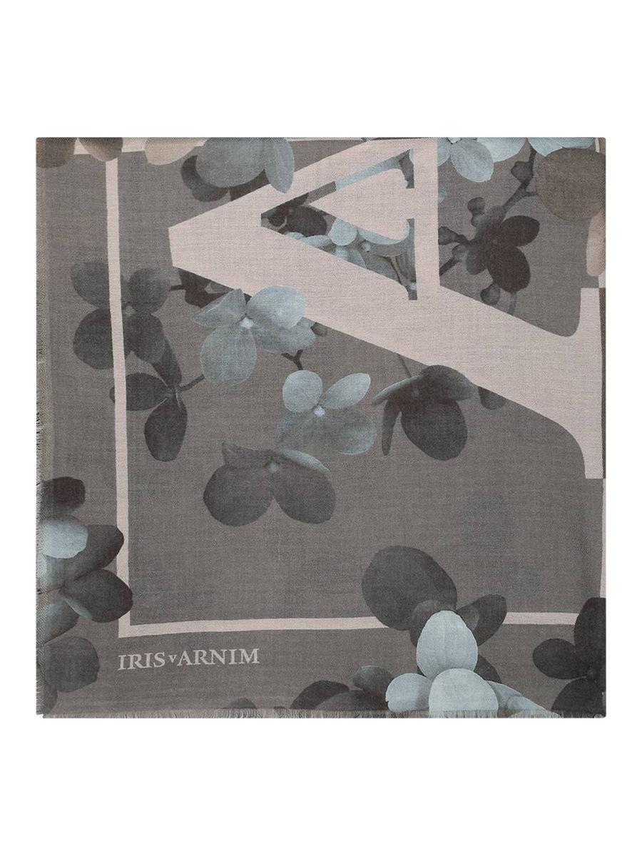 Cashmere Tuch mit Logoprint 'Iris Cashmere'