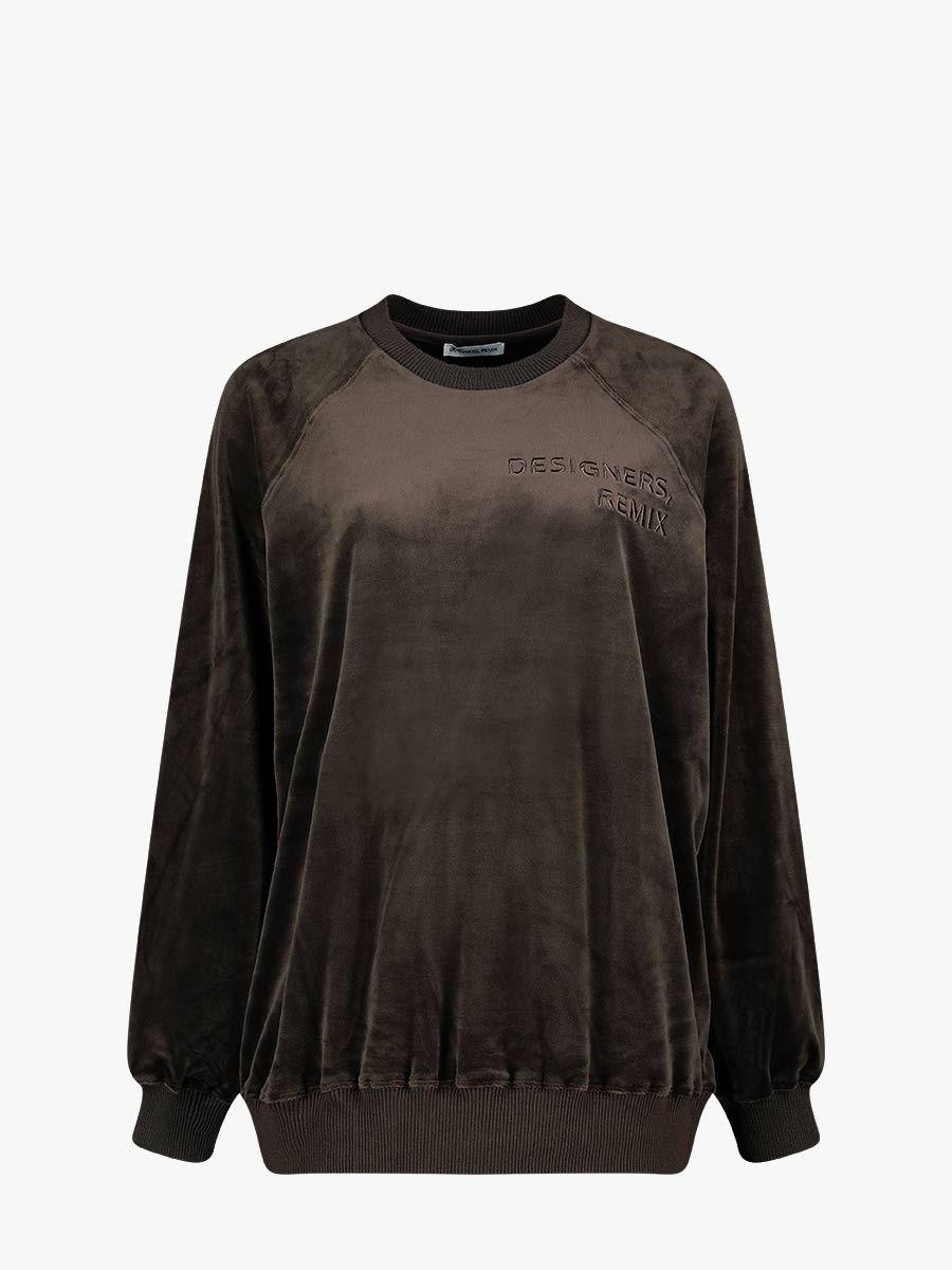 Frances velvet look sweatshirt
