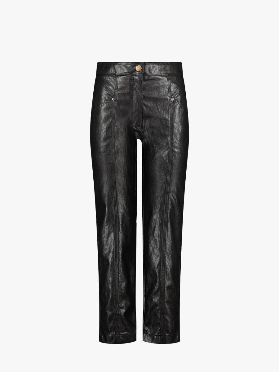 Hose aus veganem Leder