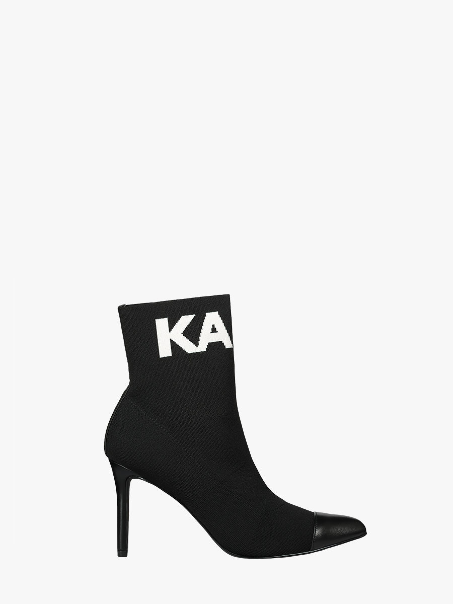 Pandora hi knit collar ankle boots