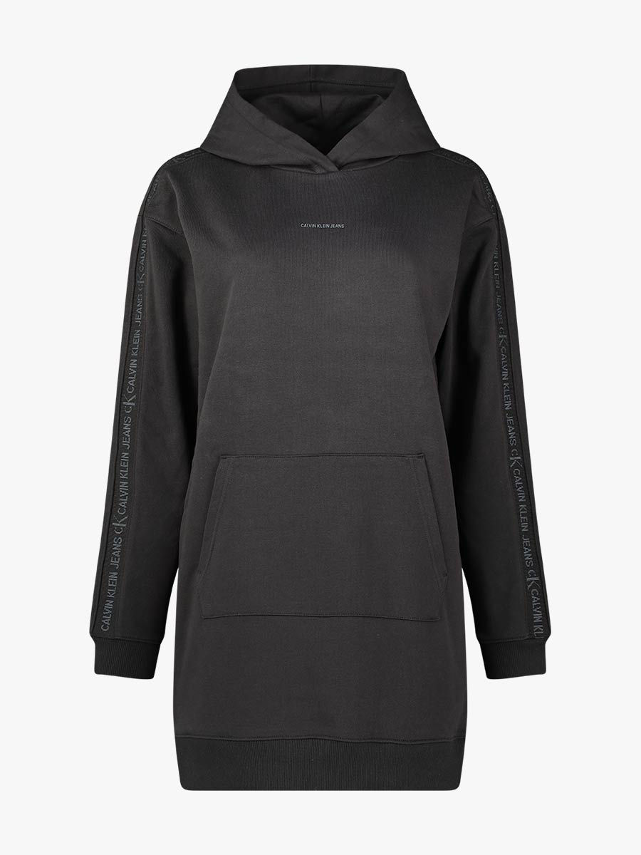 Minimal hooded jersey dress
