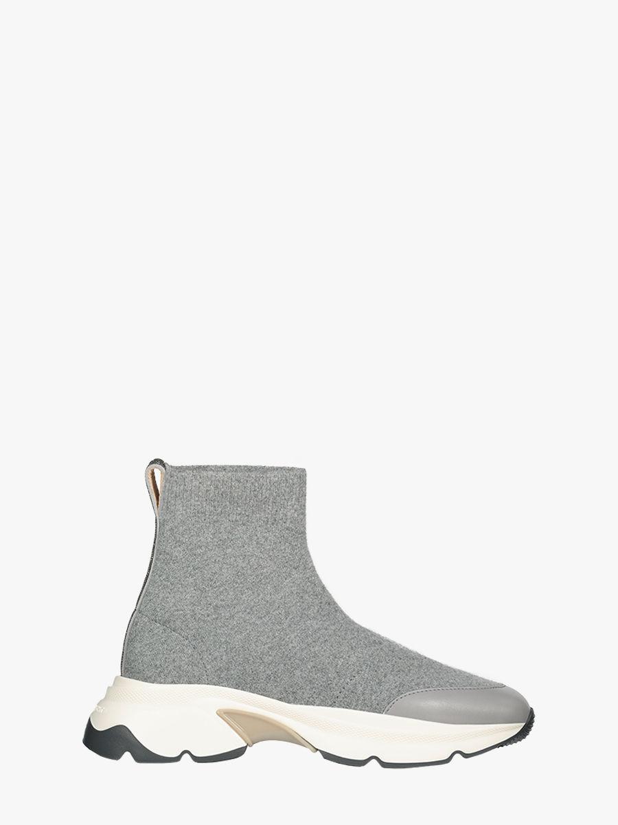 Wool knit high-top sneakers