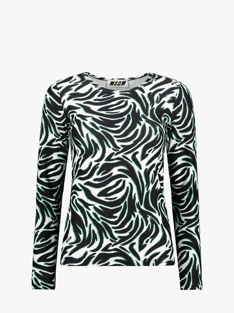 Langarmshirt mit Zebraprint
