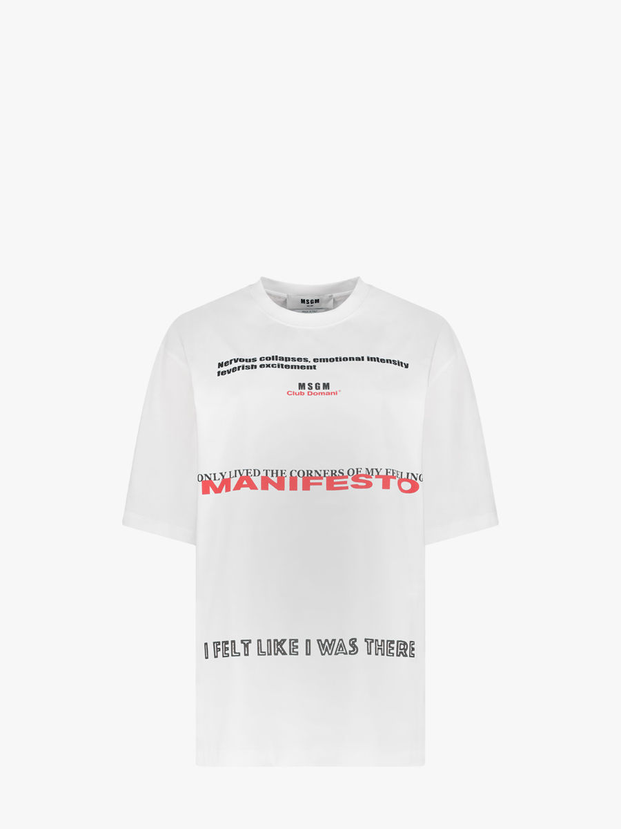 T-Shirt mit 'Manifesto'-Print