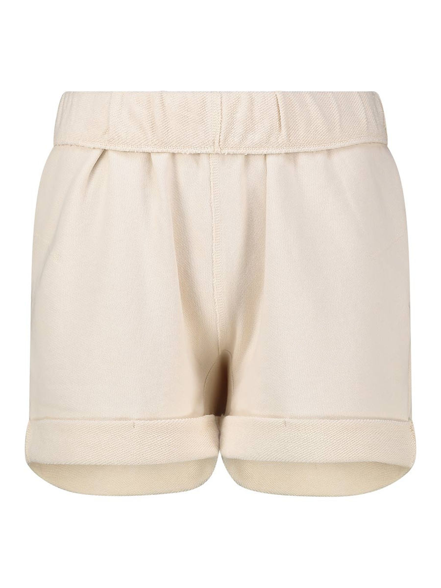 Organic cotton folded hem shorts