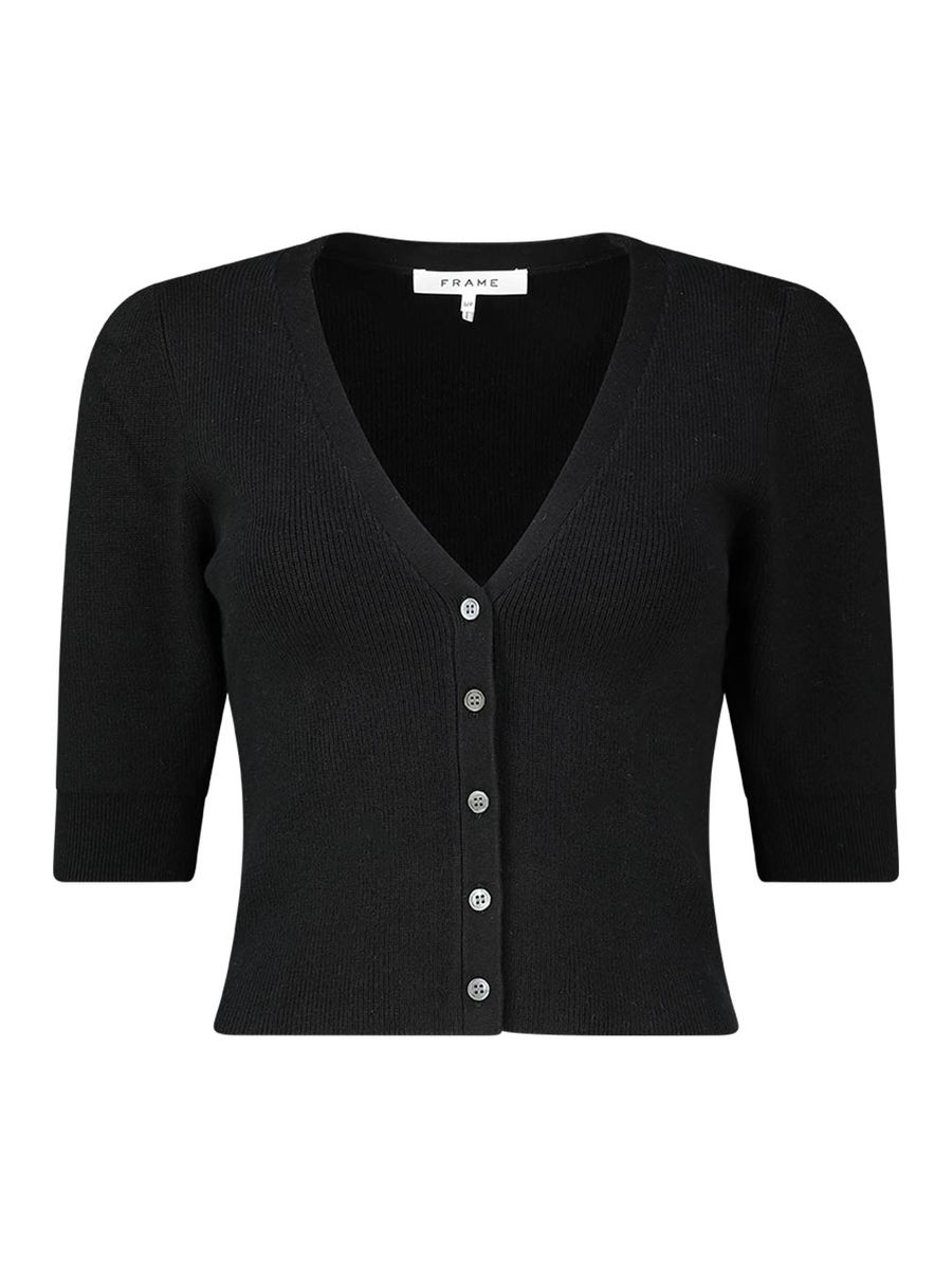 Buttoned front cropped cardigan