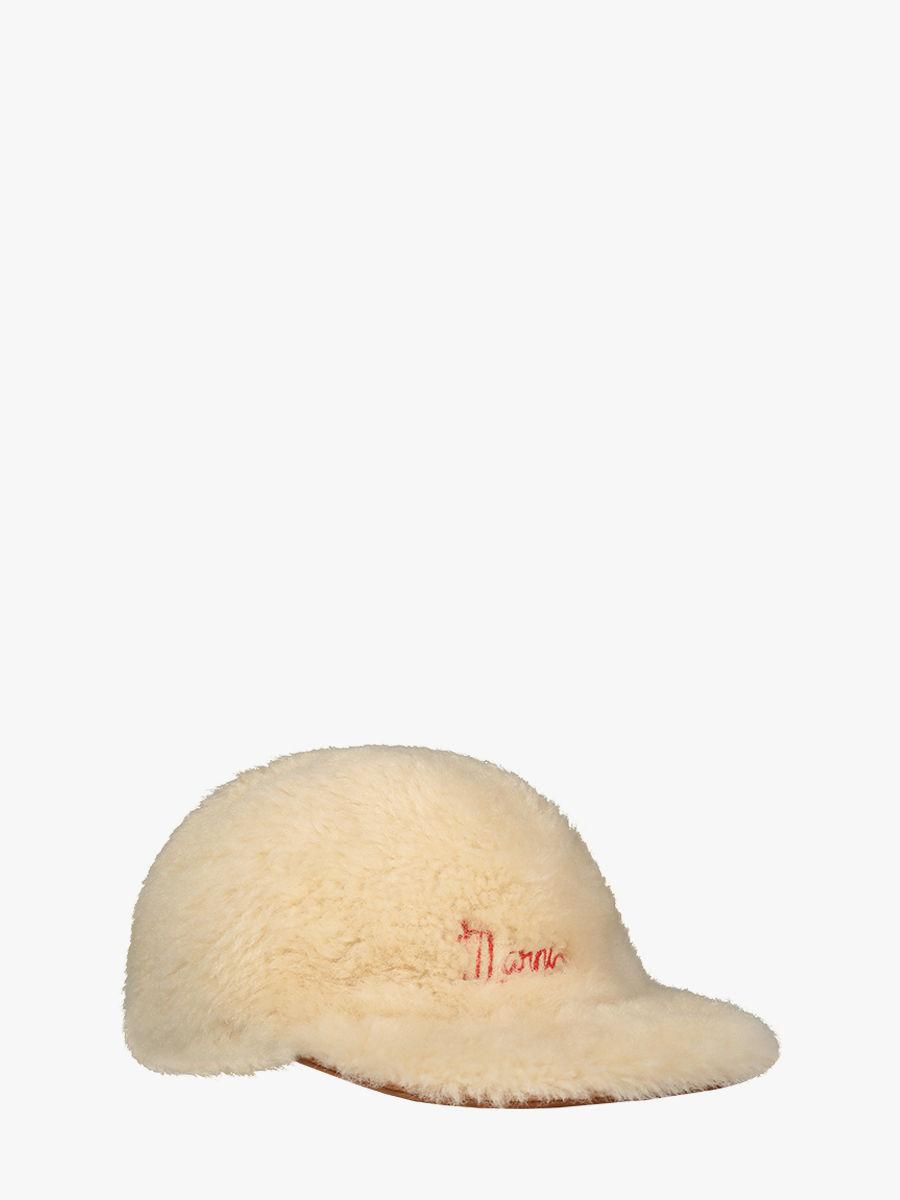 Shearling beanie with Marni logo