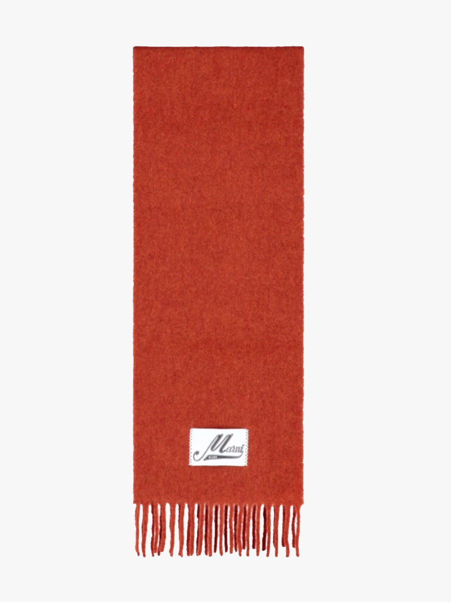 Schal aus gebürstetem Alpaka