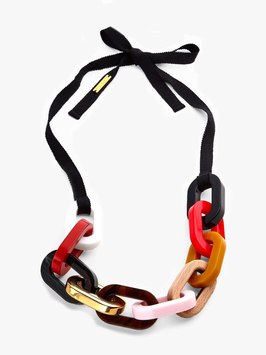 Mehrfarbige Revival Halskette