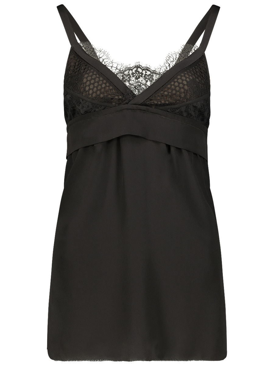 Lace insert camisole blouse