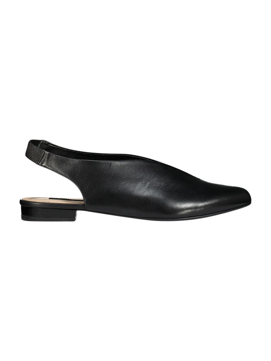 Slingback flat shoes