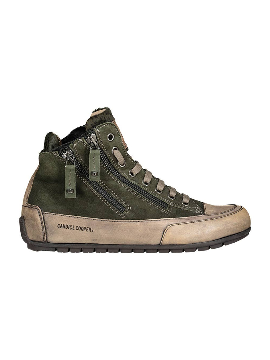 Zip detailed high-top sneakers